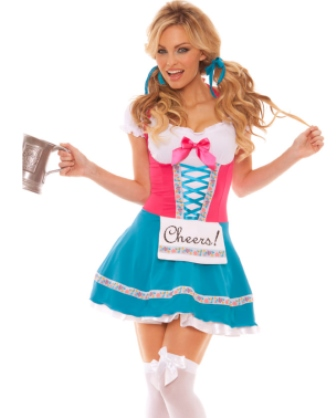 "Bavarian Beer Maid Wench ""Cheers"" Oktoberfest Costume"