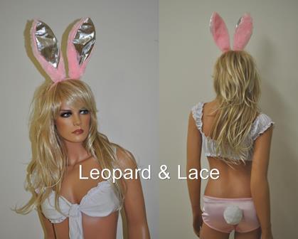 pink fluffy bunny ears