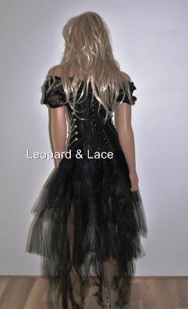 black steampunk corset chains