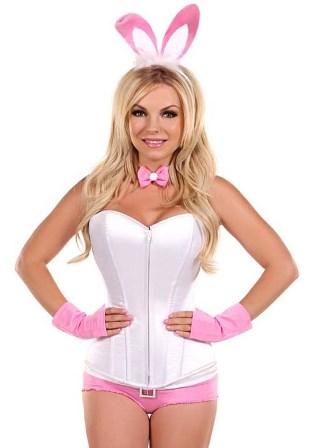 Pink Playboy Bunny Corset Costume