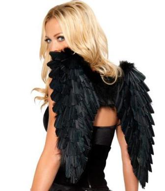 Dark Angel Black Feather Wings
