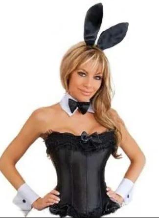 plus size playboy bunny corset costume