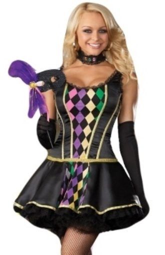 Mardi Gras Carnival Harlequin Outfit