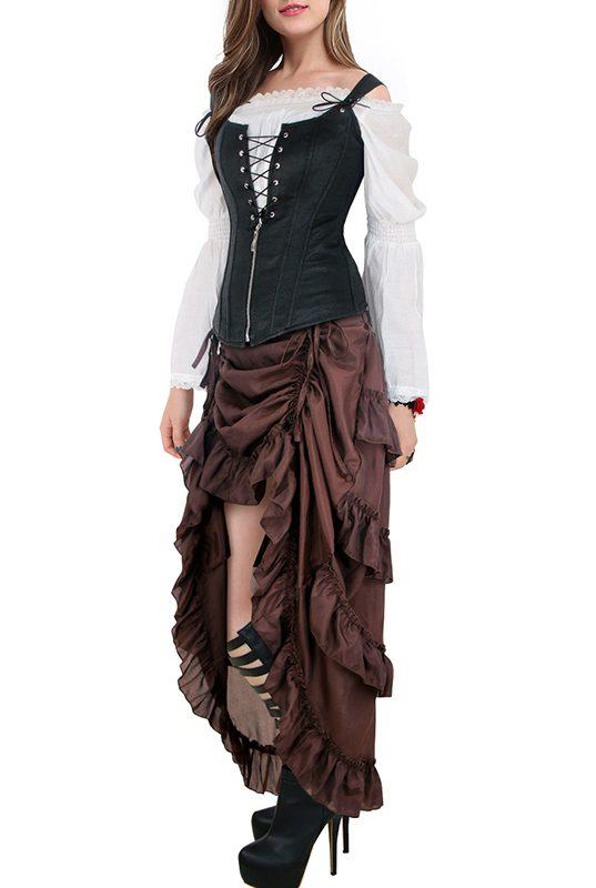 Brown Victorian Steampunk Burlesque