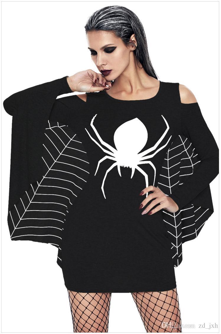 Spiderweb Halloween Jersey Dress Costume