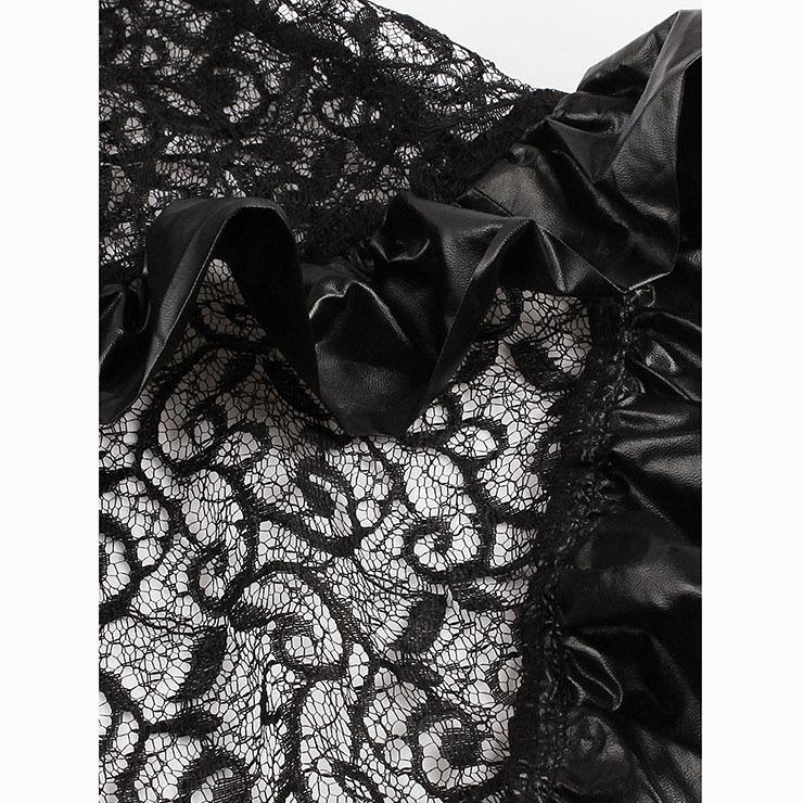 Black Lace Punk Gothic Rave Cape Cloak Free Size