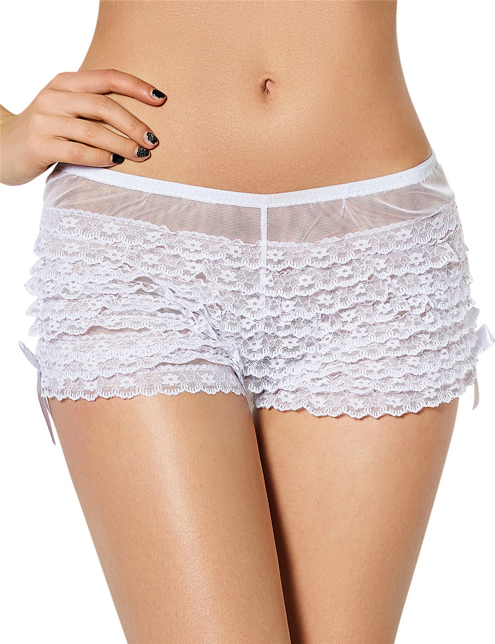 white frilly knickers