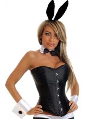 black playboy bunny tuxedo corset costume