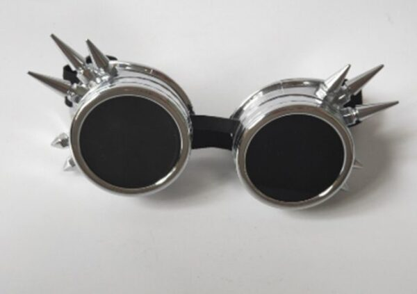 Silver Antique Vintage Steampunk Cyber Goggles