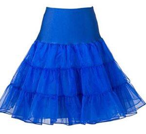 Blue Rockabilly Swing Layered Petticoat