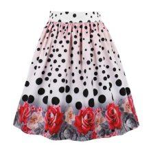 plus size floral retro skirt