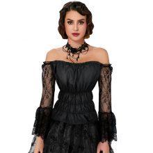 black gothic off shoulder top