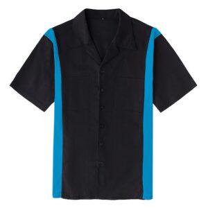 Men's vintage style 50's 60's Rockabilly Retro Bowling Shirt