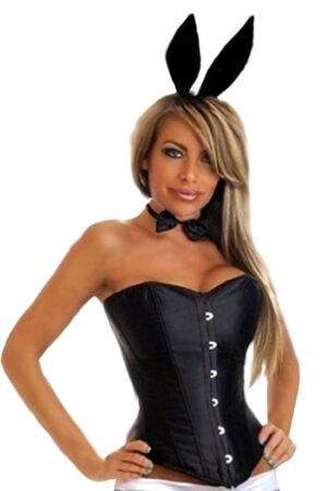 Black Tuxedo Playboy Bunny Corset Costume