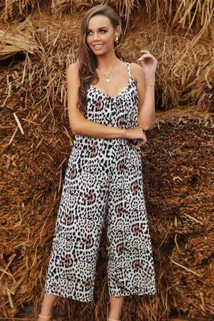 Leopard Animal Print Jumpsuit Australia