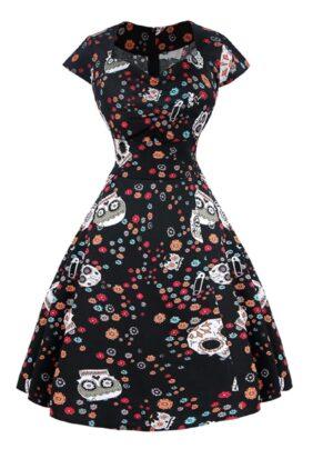 sugar skulls retro dress
