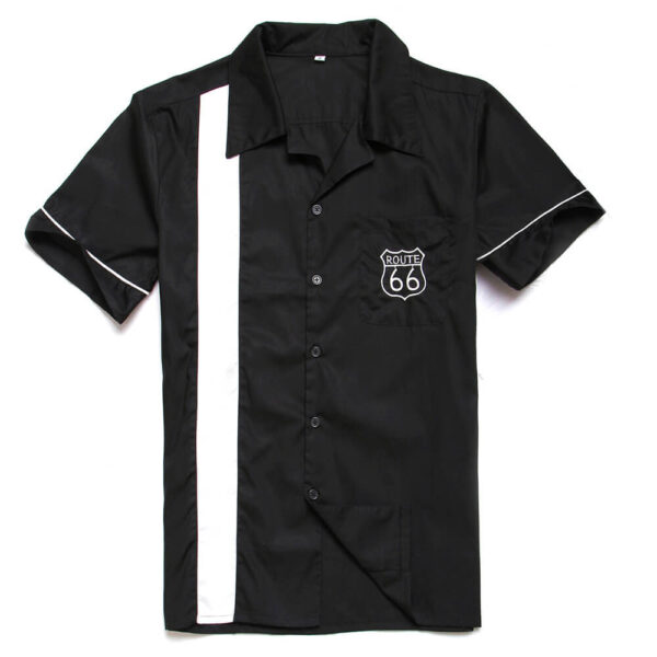Route 66 Retro Bowling Shirt