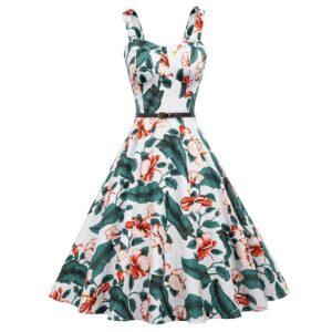 Hibiscus Floral Retro Dress